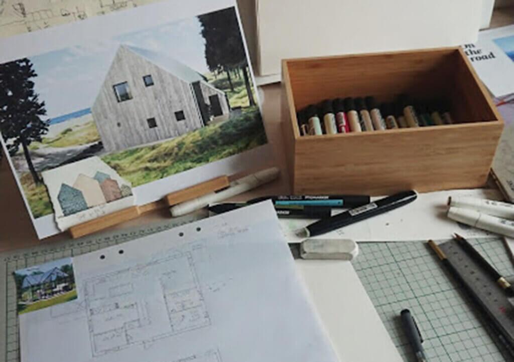 Ritningar nybyggt hus Habo.